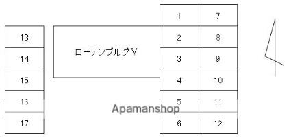 香川県高松市松縄町[1K/26m2]の配置図