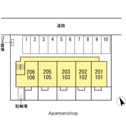 香川県高松市屋島西町[1LDK/37.03m2]の配置図