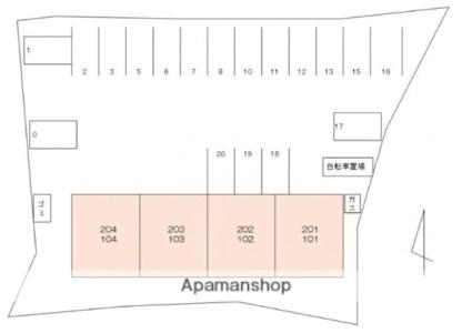 サンフィールドⅠ[2LDK/57.96m2]の配置図