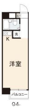 コート今里Ⅰ[1R/21.87m2]の間取図