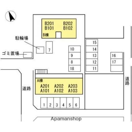 サンタウン21[2DK/45.29m2]の配置図