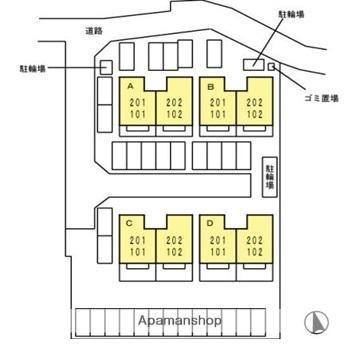 香川県高松市円座町[2LDK/53.73m2]の配置図