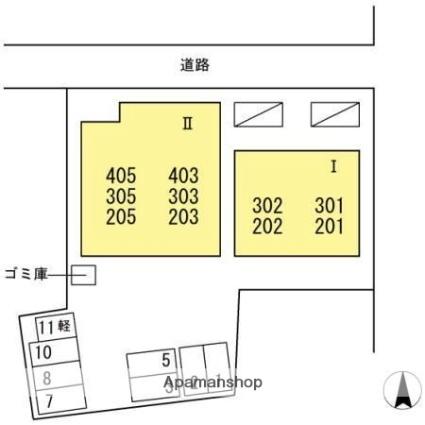 レジデンス水田駅前Ⅰ[2LDK/51.6m2]の配置図