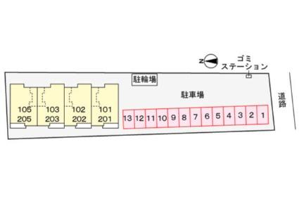 ベル・ヴィオラKⅢ[2LDK/57.12m2]の配置図