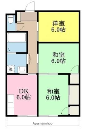 愛媛県東温市樋口[3DK/79.3m2]の間取図