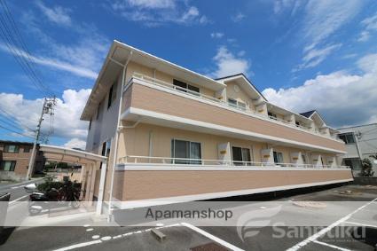 愛媛県東温市、見奈良駅徒歩4分の築14年 2階建の賃貸アパート