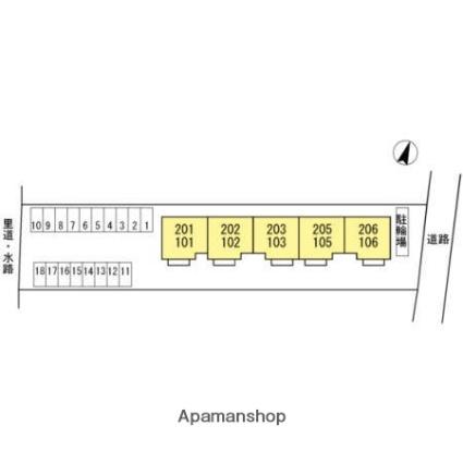愛媛県松山市清住2丁目[2LDK/59.54m2]の配置図