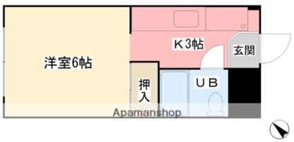 愛媛県松山市土橋町[1K/23.07m2]の間取図
