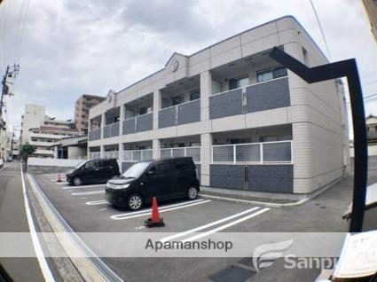 愛媛県松山市、清水町駅徒歩2分の築1年 2階建の賃貸アパート
