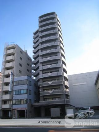 愛媛県松山市、古町駅徒歩6分の築15年 14階建の賃貸マンション