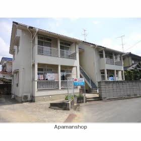愛媛県東温市、田窪駅徒歩6分の築28年 2階建の賃貸アパート