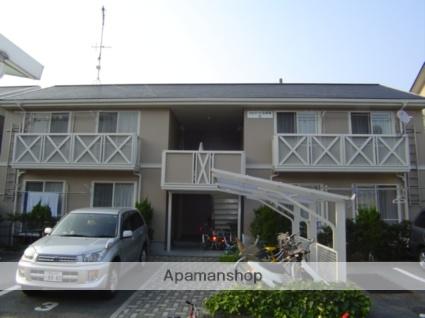 愛媛県松山市、山西駅徒歩21分の築25年 2階建の賃貸アパート