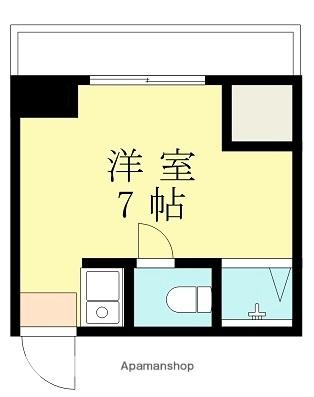 鈴木マンション[1K/13.68m2]の間取図