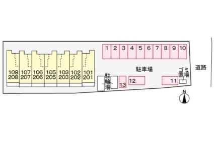 シャルマンⅢ[1K/32.23m2]の配置図