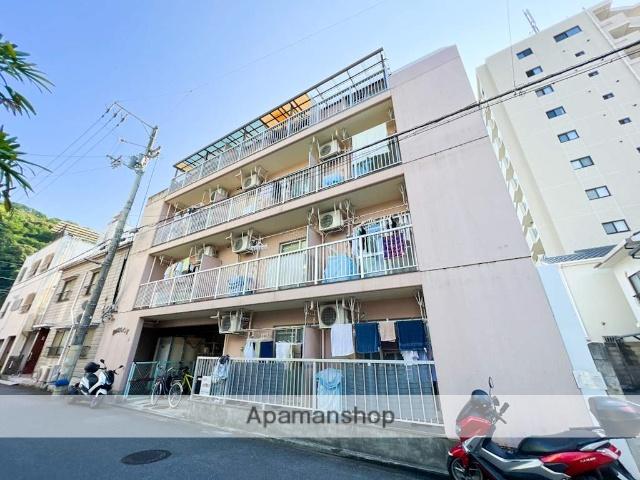 愛媛県松山市、清水町駅徒歩2分の築21年 4階建の賃貸マンション