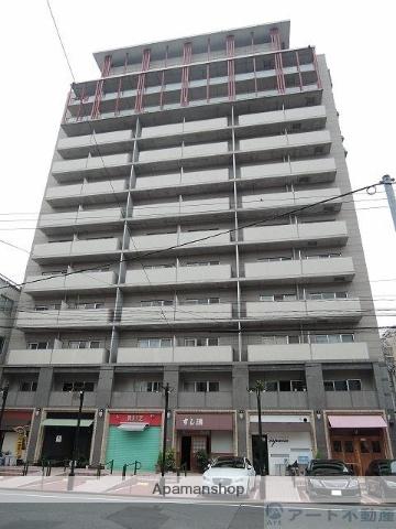 愛媛県松山市、大街道駅徒歩9分の築21年 13階建の賃貸マンション