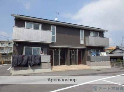 愛媛県東温市、横河原駅徒歩14分の築2年 2階建の賃貸アパート