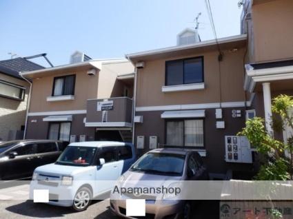 愛媛県松山市、梅津寺駅徒歩17分の築28年 2階建の賃貸アパート