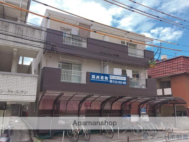 愛媛県松山市、松山駅徒歩14分の築25年 3階建の賃貸マンション
