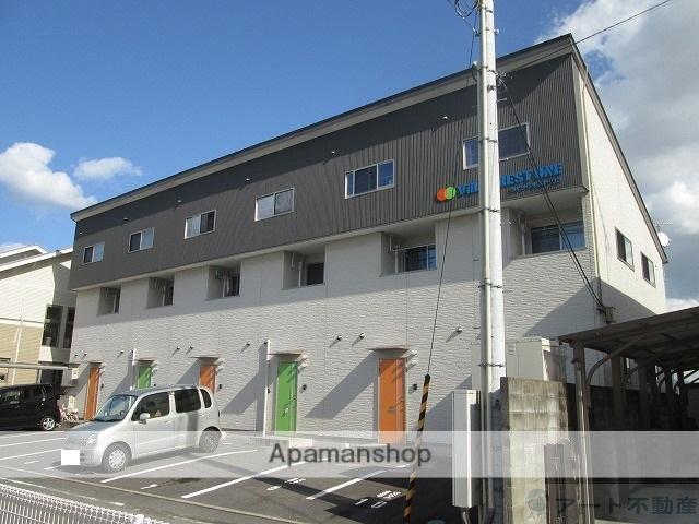 愛媛県伊予郡松前町、岡田駅徒歩12分の築6年 2階建の賃貸アパート