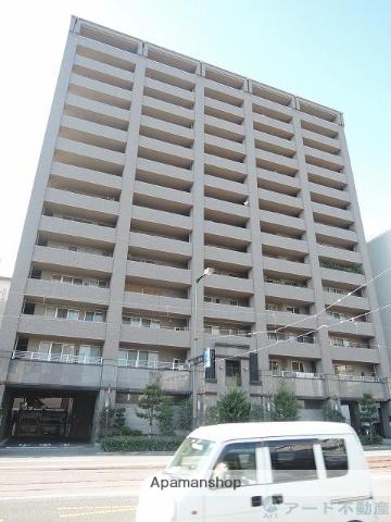 愛媛県松山市、勝山町駅徒歩4分の築13年 14階建の賃貸マンション
