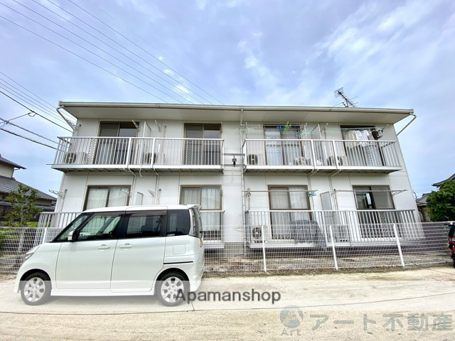 愛媛県松山市、伊予北条駅徒歩13分の築26年 2階建の賃貸アパート