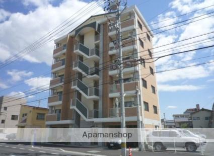 愛媛県松山市、勝山町駅徒歩9分の築9年 6階建の賃貸マンション