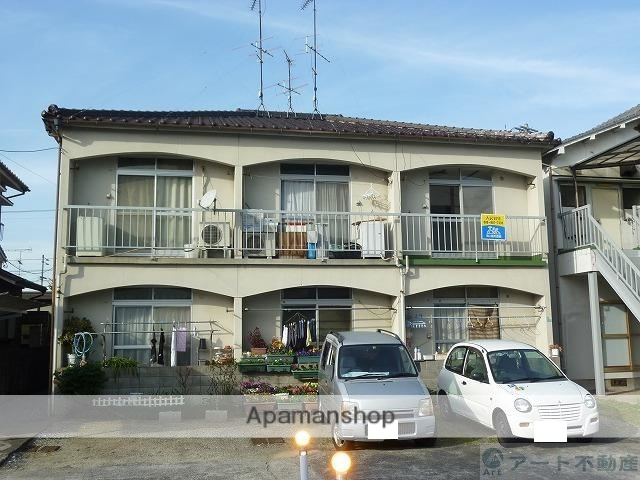 愛媛県松山市、土橋駅徒歩15分の築35年 2階建の賃貸アパート