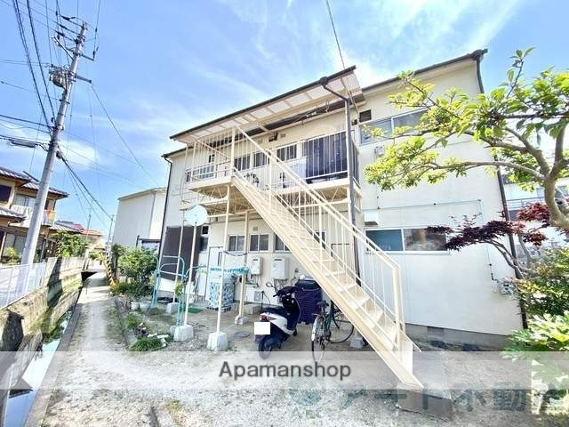愛媛県松山市、福音寺駅徒歩14分の築41年 2階建の賃貸アパート