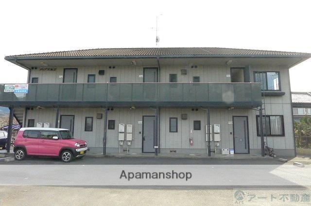 愛媛県東温市、田窪駅徒歩14分の築19年 2階建の賃貸アパート