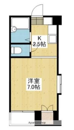 愛媛県松山市清水町1丁目[1K/17.82m2]の間取図