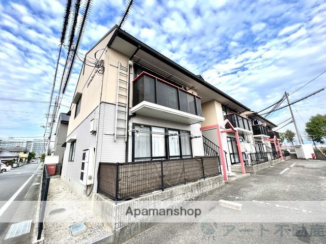 愛媛県東温市、梅本駅徒歩17分の築22年 2階建の賃貸アパート