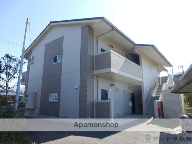 愛媛県東温市、牛渕団地前駅徒歩17分の築4年 2階建の賃貸マンション