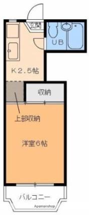 住田マンション[1K/18.63m2]の間取図