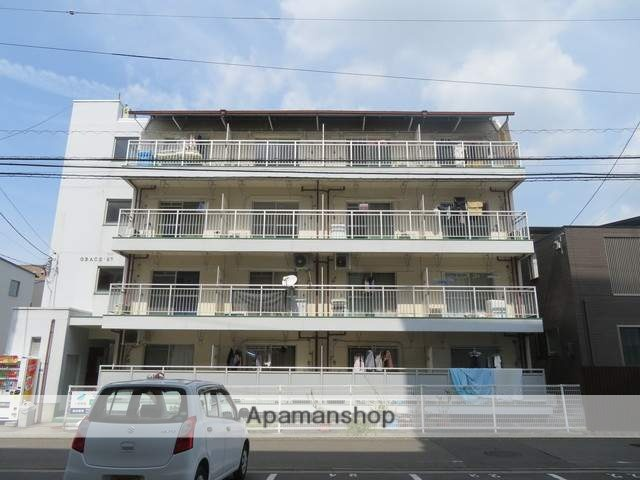 愛媛県松山市、北久米駅徒歩13分の築30年 4階建の賃貸マンション