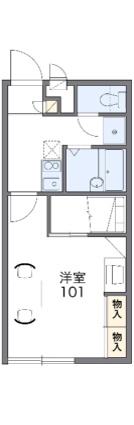 レオパレスMOMO[1K/23.18m2]の間取図