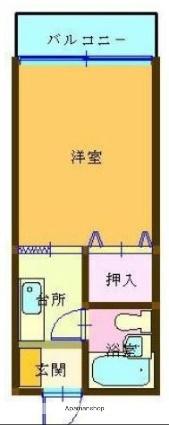 愛媛県松山市中村3丁目[1K/18.18m2]の間取図