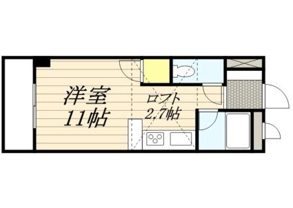 メゾン幸PARTⅡ[1R/22.2m2]の間取図
