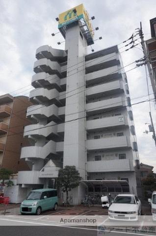 愛媛県松山市、石手川公園駅徒歩17分の築26年 8階建の賃貸マンション