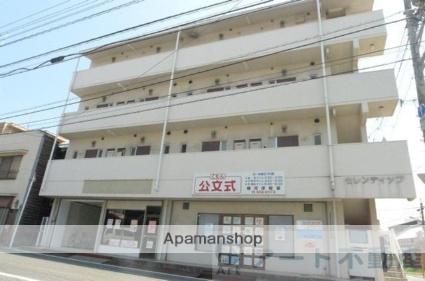 愛媛県東温市、愛大医学部南口駅徒歩12分の築28年 4階建の賃貸マンション