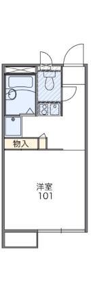レオパレスゴールド枝松[1K/20.28m2]の間取図