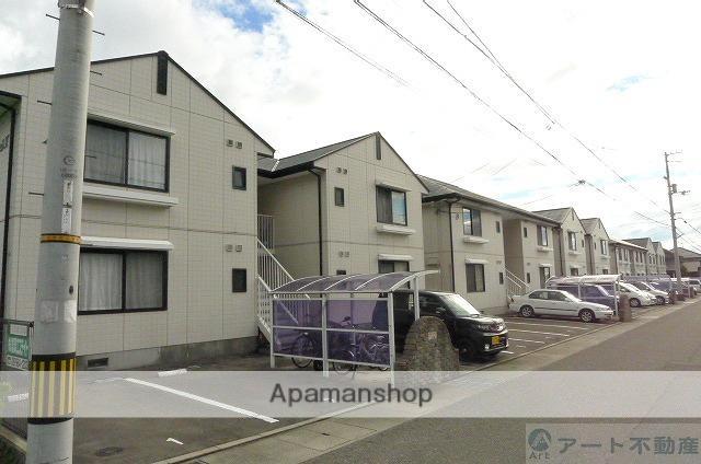 愛媛県東温市、梅本駅徒歩14分の築23年 2階建の賃貸アパート