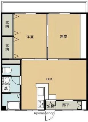 松本マンションⅢ[3DK/58m2]の間取図