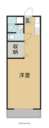 久門ビル[1K/26m2]の間取図