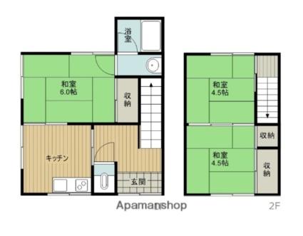 小松町新屋敷甲 貸家(100860)[3DK/61.02m2]の間取図