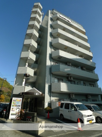 愛媛県松山市、道後公園駅徒歩13分の築25年 9階建の賃貸マンション