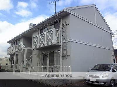 愛媛県東温市、見奈良駅徒歩21分の築25年 2階建の賃貸アパート