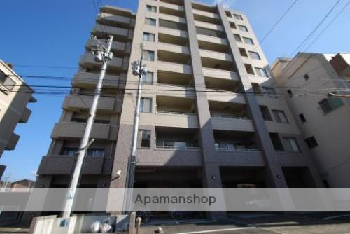 愛媛県松山市の築12年 9階建の賃貸マンション