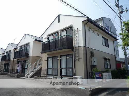 愛媛県東温市、梅本駅徒歩12分の築22年 2階建の賃貸アパート
