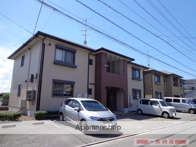 愛媛県松山市の築18年 2階建の賃貸アパート